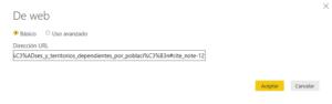 importar datos web en power BI
