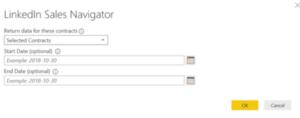 Conector de LinkedIn Sales Navigator (beta) Power BI
