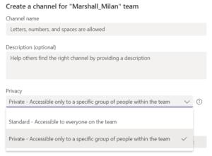 Grupo privado en Microsoft Teams
