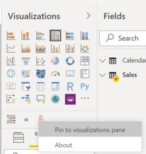 panel de visualización