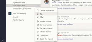Fijar canales en Microsoft Teams