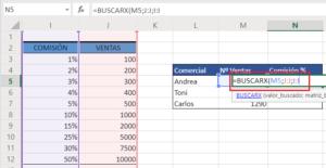 Aplicarl a fórmula BUSCARX