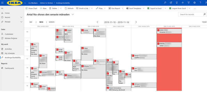 calendario power apps ikea