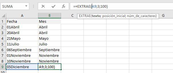 formula extrae