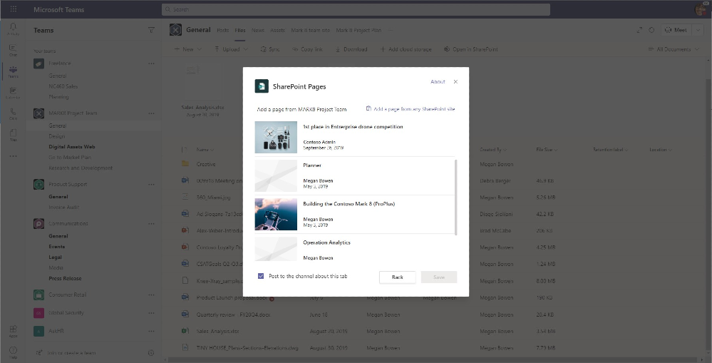 Actualización de las páginas de SharePoint