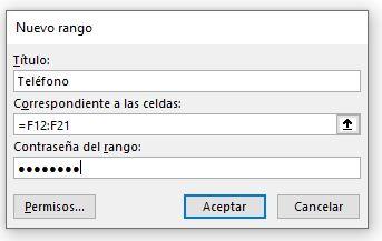 Permitir editar datos/Contraseña pestaña