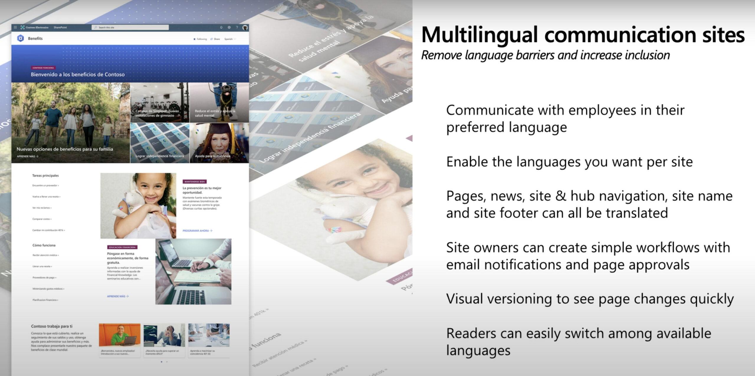 novedades sharepoint sitios multilingües