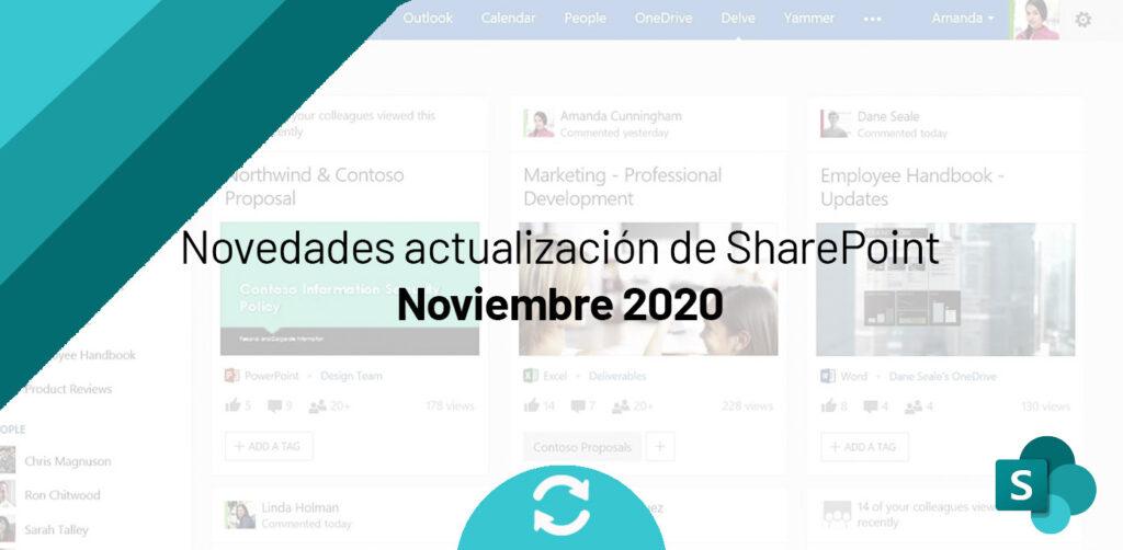 Novedades actualización SharePoint Noviembre 2020