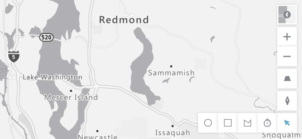 actualización azure map visual