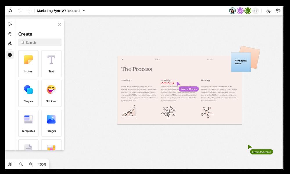 Experiencia de usuario moderno y unificado en el nuevo Microsoft Whiteboard